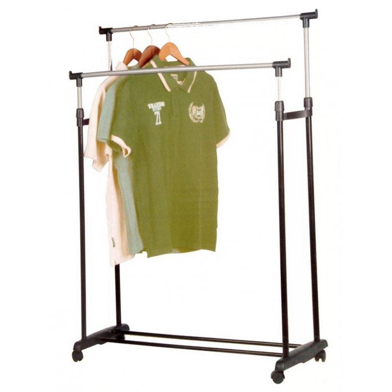 Mobiler Kleiderständer mobiler kleiderständer mit zwei kleiderstangen 80cm höhe 90 164cm