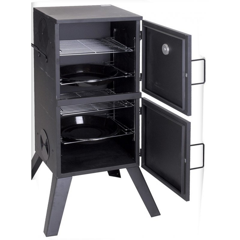r ucherofen bbq smoker smoke grill f r holzkohle. Black Bedroom Furniture Sets. Home Design Ideas