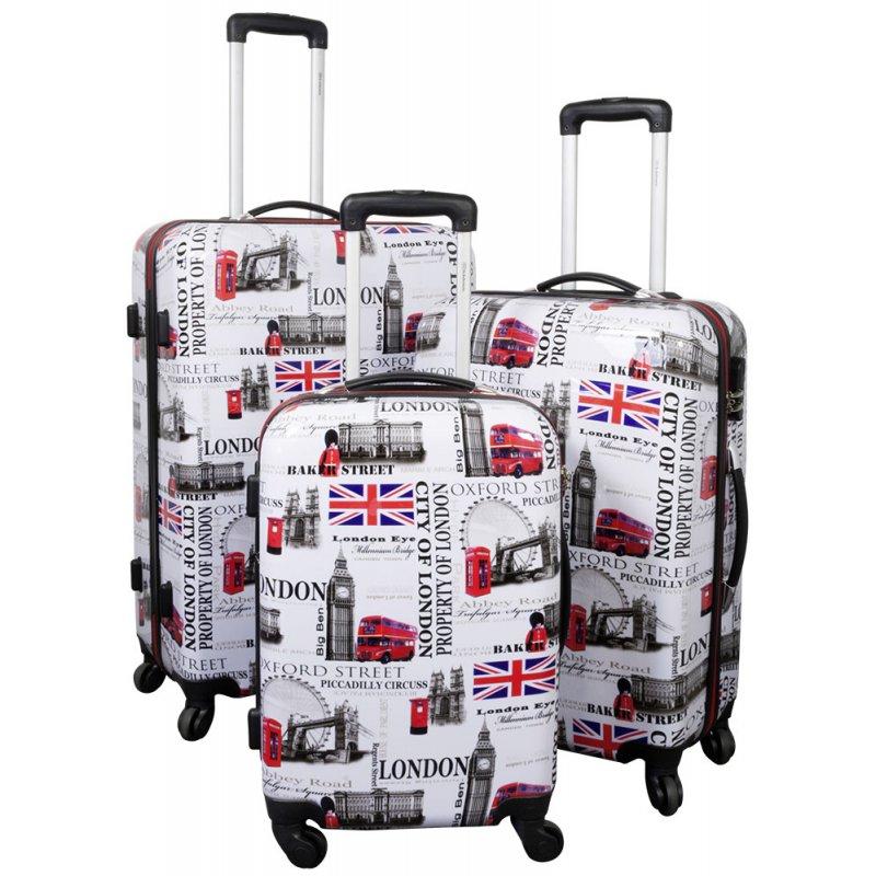 d4e25a451830 TOP-Design - Trolley-Koffer-Set, 3-tlg, 4 Rollen, Mod. London-1