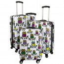 Eule - Trolley-Koffer-Set - 3-tlg. - Trolleys 74 + 64 + 54 cm - XXL-Light - Owl