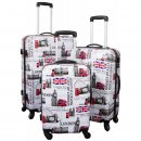 TOP-Design - Trolley-Koffer-Set, 3-tlg, 4 Rollen, Mod....