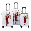 Trolley-Koffer-Set HOT LEGS, 3-teilig, 4 Rollen