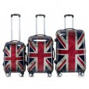 Trolley-Koffer-Set Union Jack, 3-teilig, 4 Rollen