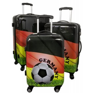 GERMANY - Fussball-Trolley-Koffer-Set - 3-tlg. - Trolleys 74 + 64 + 54 cm
