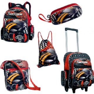 Kinder - Trolley-Set - 5-tlg. - FIRESTORM - Trolley - Rucksack, ....
