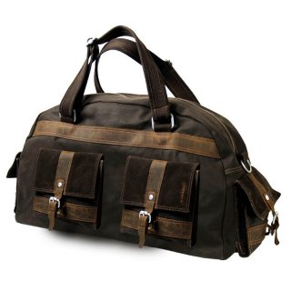 Reisetasche - Traveller - Greenland-nature - Canvas-Leder