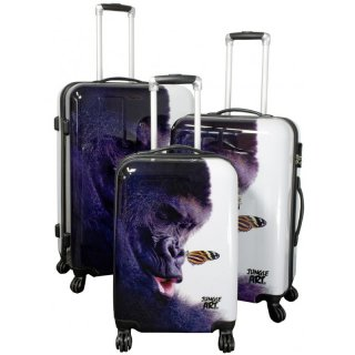 TOP-Design - Trolley-Koffer-Set, 3-tlg, 4 Rollen, Mod. Gorilla