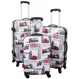 TOP-Design - Trolley-Koffer-Set, 3-tlg, 4 Rollen, Mod. London-1