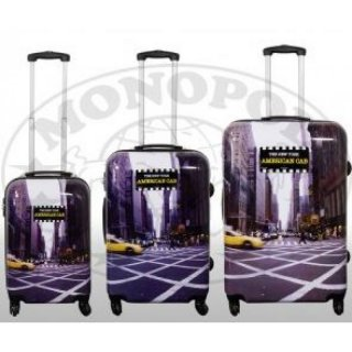 TOP-Design - Trolley-Koffer-Set, 3-tlg, 4 Rollen, Mod. Yellow Cab1