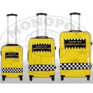 TOP-Design - Trolley-Koffer-Set, 3-tlg, 4 Rollen, Mod. Yellow Cab2