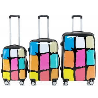 Trolley-Koffer-Set GRAFFITI, 3-teilig, 4 Rollen