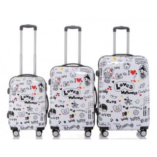 Trolley-Koffer-Set LOVES, 3-teilig, 4 Rollen