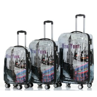 Trolley-Koffer-Set NEW YORK, 3-teilig, 4 Rollen